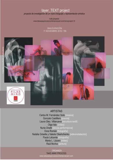 Inauguración Viernes 11 de Noviembre a las 19h en C.C. Pilar Miró. Plaza Antonio María Segovia, 28031 Madrid